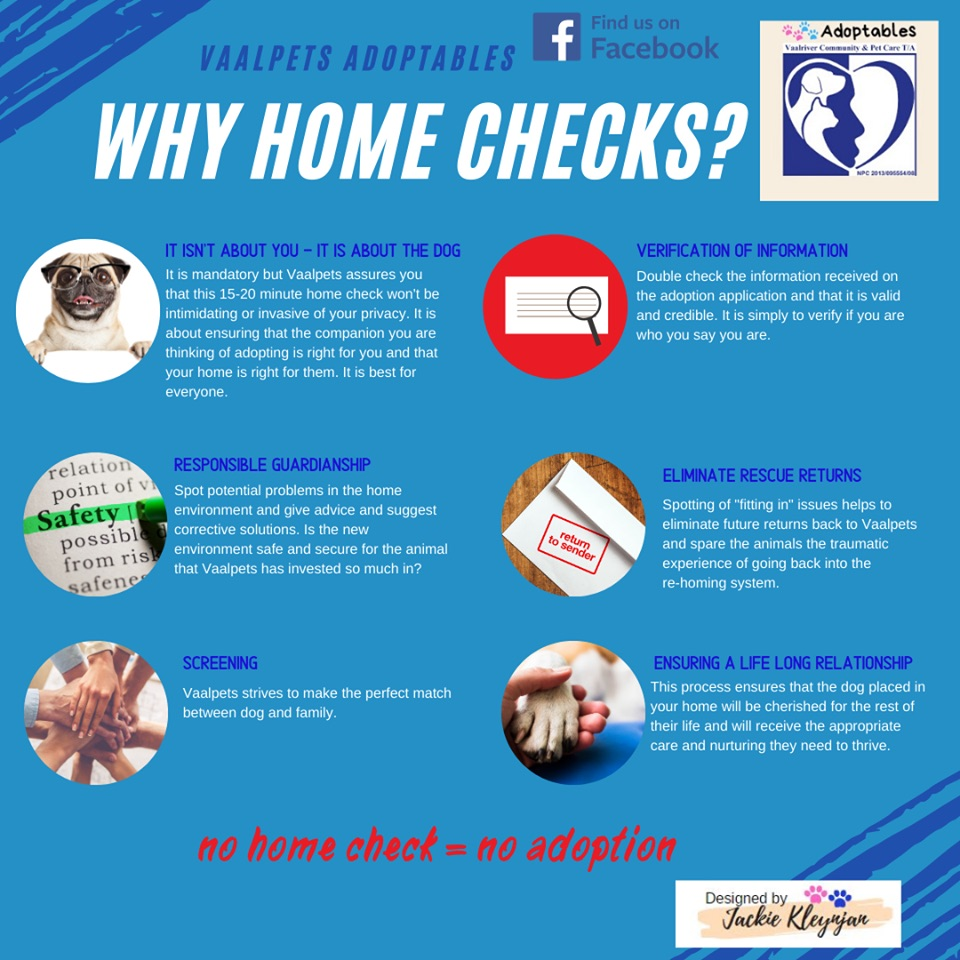 Why do rescue centres do home checks?